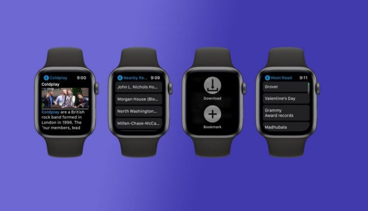 MiniWiki allows you to browse Wikipedia from your Apple Watch