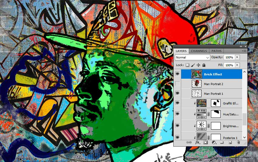 Merge All Visible Layers in Photoshop