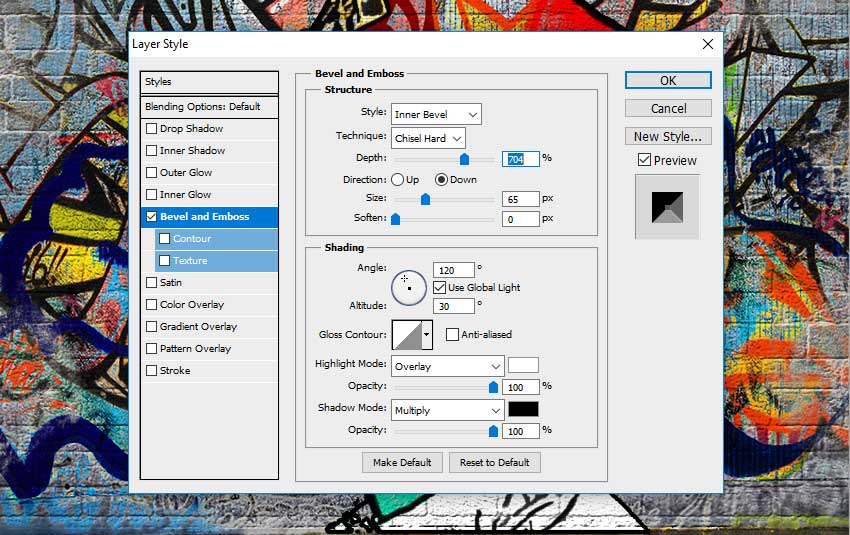 Bevel and Emboss in Photoshop