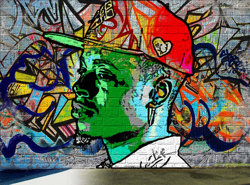 Graffiti Wall Photo Effect Photoshop Tutorial