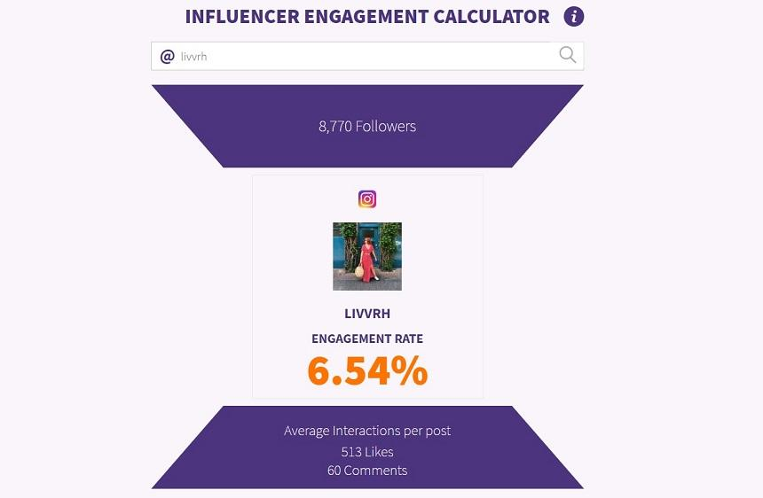 social media influencer enagement rate tool