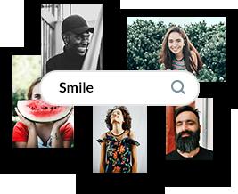 Unsplash photo library social ads.