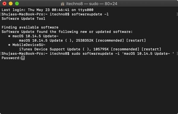 Update Mac Using Terminal Sudo Install