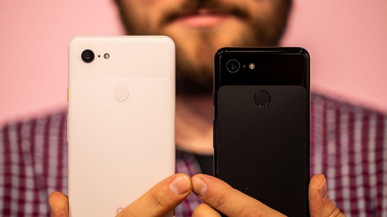 AndroidPIT google pixel 3 vs pixel 3 xl back