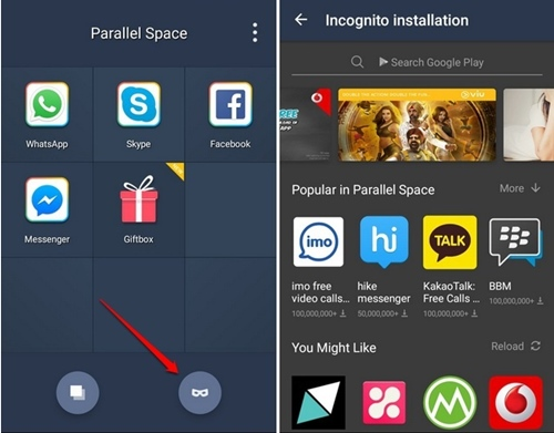 Using Parallel Space App