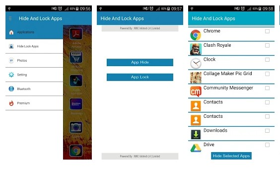 Hide Apps And Lock Apps