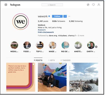 B2B profile page on Instagram