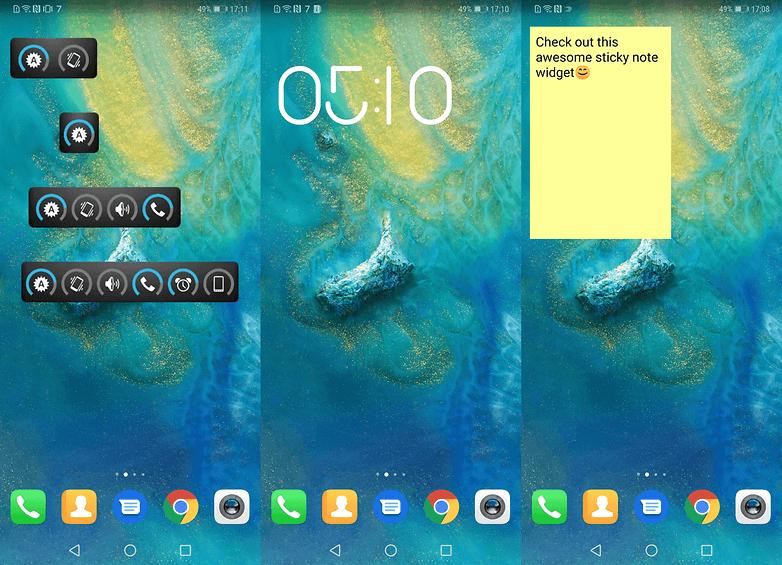 homescreen widget 2