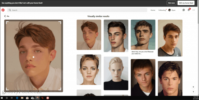 pinterest face search