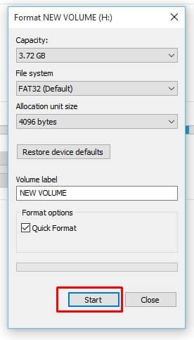 Set FAT 32 USB Format