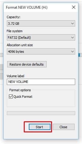 Set FAT 32 USB Format