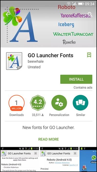 Using GO Launcher Ex