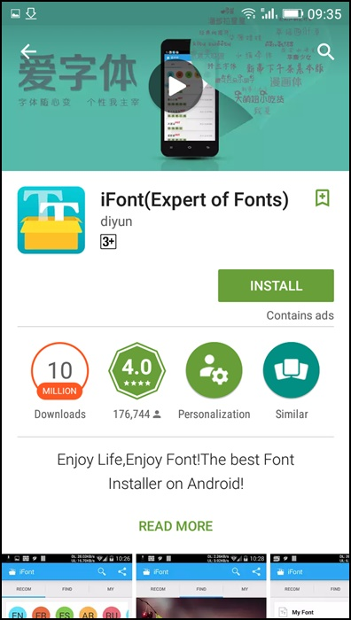 Using iFont