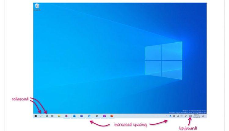 Microsoft Demos Touch-Optimized Desktop in Latest Windows 10 Insider Build