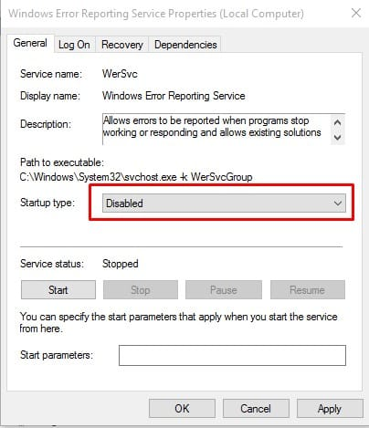 How To Disable Error Reporting In Windows 10