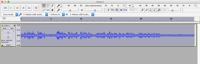 Audacity Noise Removal Application Selection