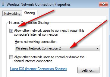 Share Your Internet Connection Between Two Windows PC