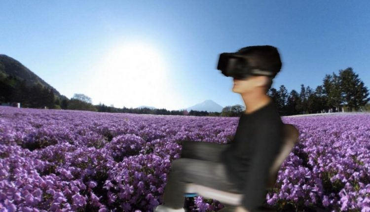 Virtual walking system for re-experiencing the journey of another person