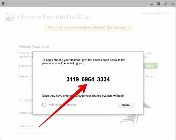 Using Chrome Remote Desktop