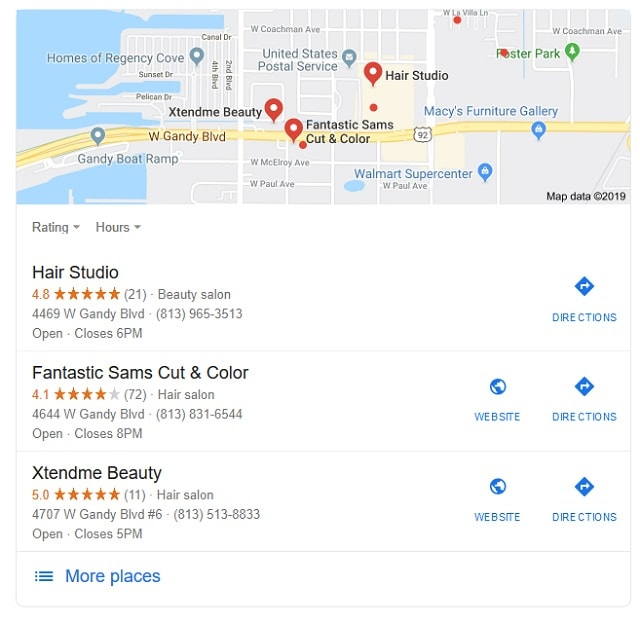 Local SEO Google Map Search Results