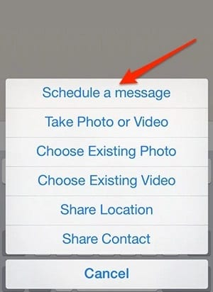 Schedule WhatsApp Messages On iPhone