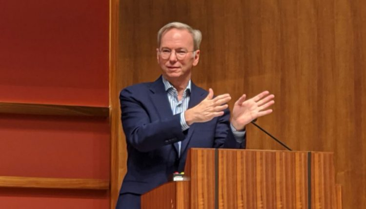 Former Google CEO Eric Schmidt warns against overregulation of AI