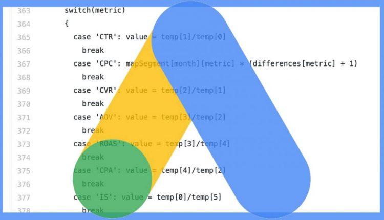 Advanced Google Ads script to forecast ad performance