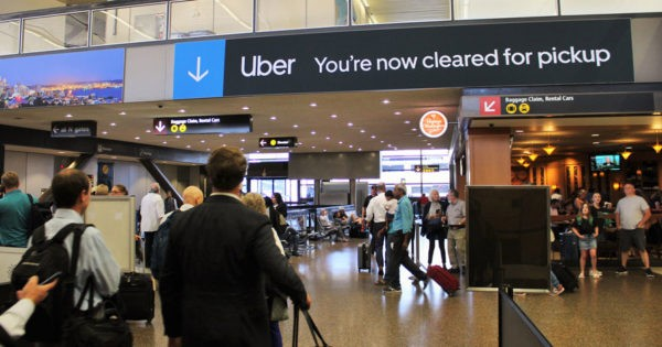 Uber Tries Ads to Guide Airport Travelers as Rideshare Is Pushed Out