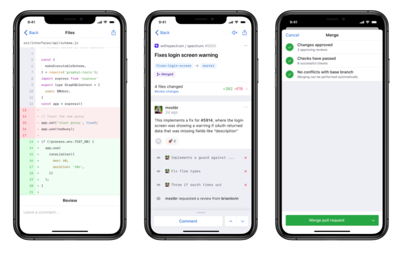 GitHub launches iOS app Android app coming in 2020
