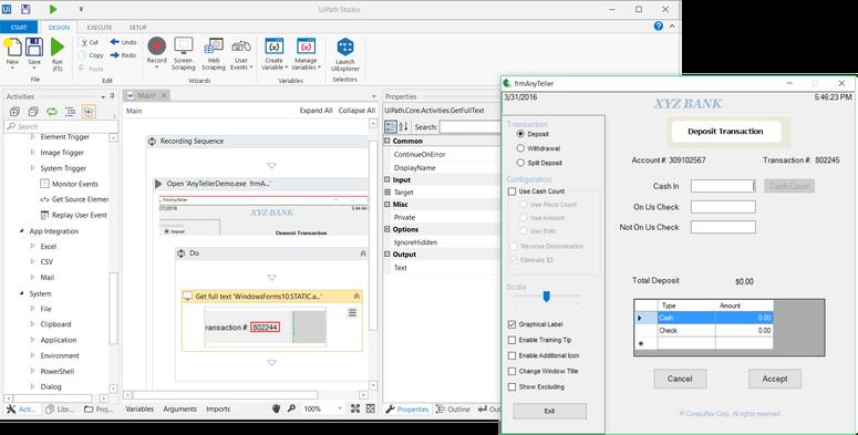 UiPath Studio for designing processes