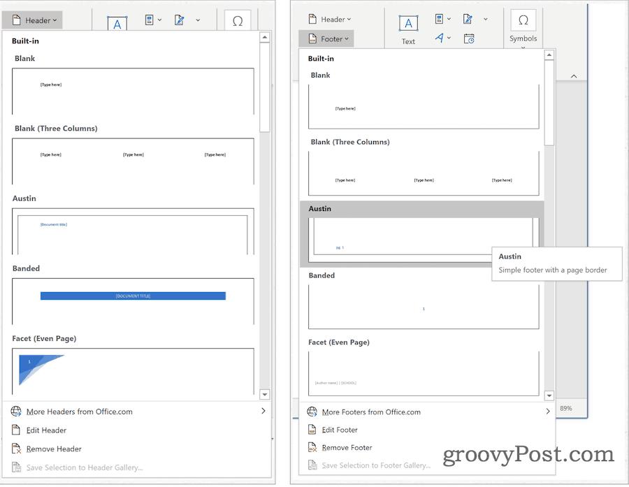 Microsoft Word Building Blocks