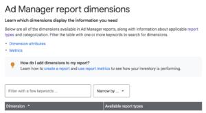google ad manager report setup