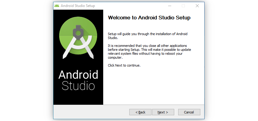 Android Studio installation wizard