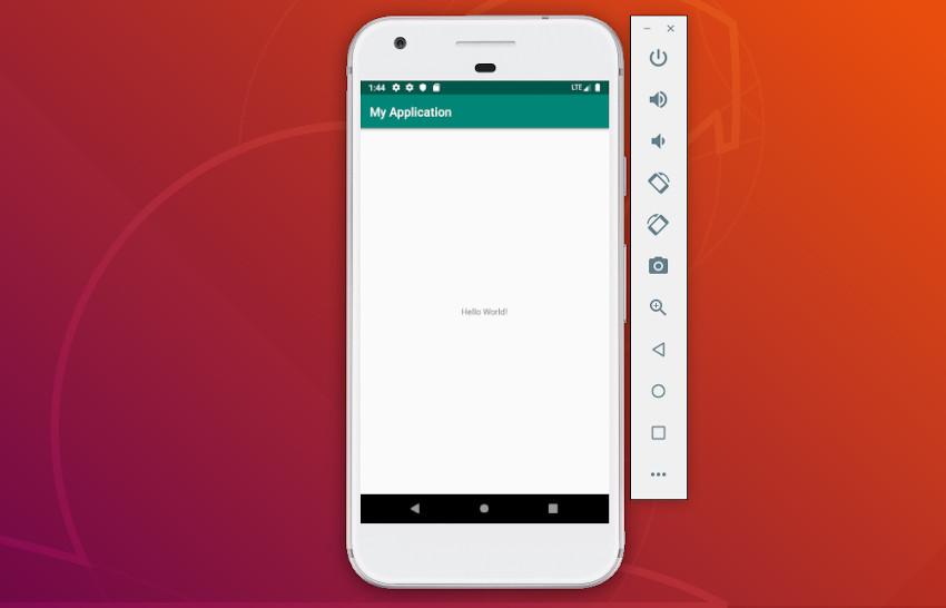 App running on AVD