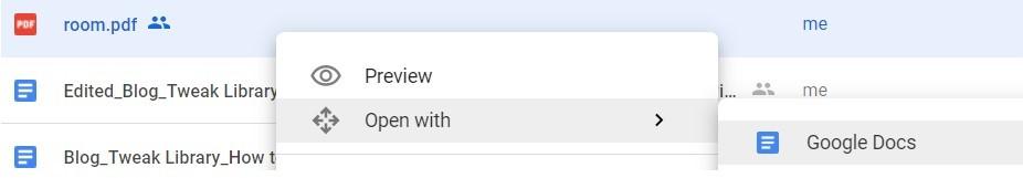 Convert PDF to Word File Using Google Docs