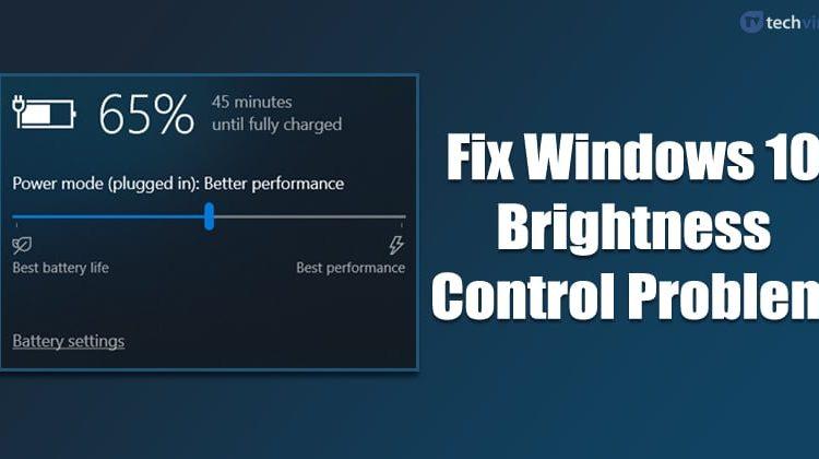 How To Fix Windows 10 Brightness Control Not Working Problem