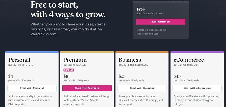 basic website by WordPress image