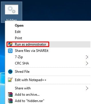 Right click on the .bat file and select'Run as administrator'