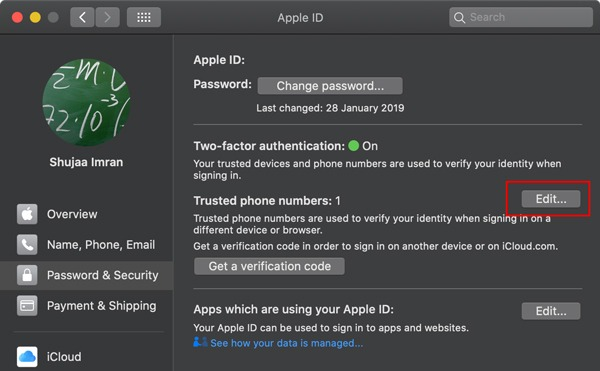 Icloud Trusted Number Add Number Macos