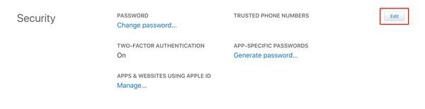Icloud Trusted Number Add Number Apple Website
