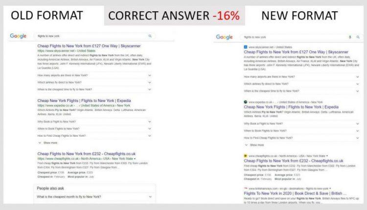 Google desktop favicon search results study