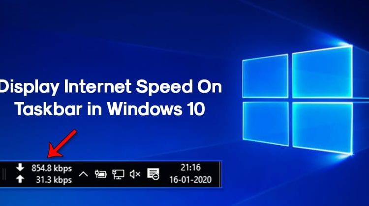 How to Display Internet Speed on Taskbar in Windows 10