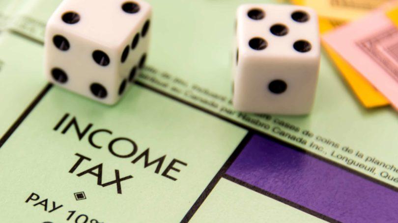 Income Tax Monopoly Board Game Dice