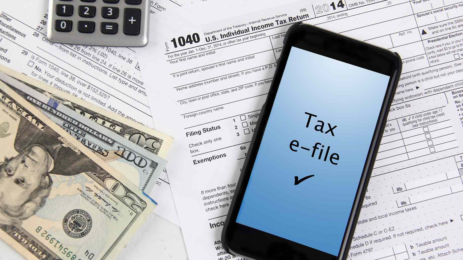 e-file taxes with mobile phone