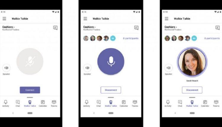 Microsoft Teams will soon add push-to-talk walkie-talkie feature