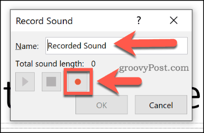 Recording audio in PowerPoint