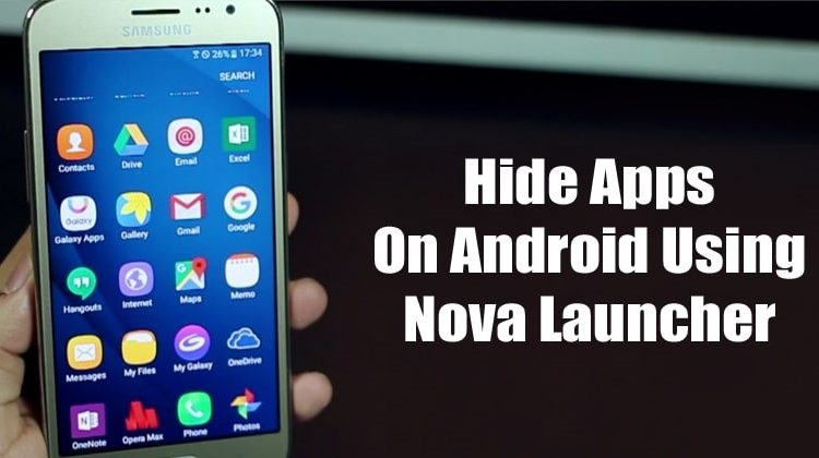 How To Hide Apps On Android Using Nova Launcher