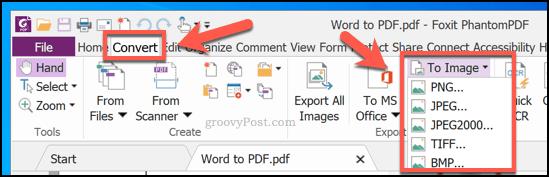 Converting PDF to an image using PhantomPDF