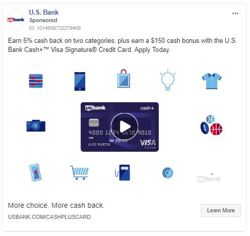 Credit card ad