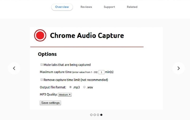 Chrome Audio Capture